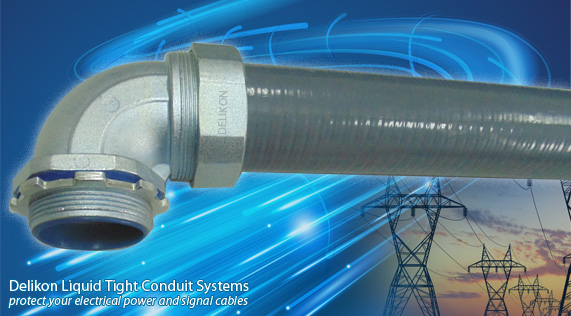 Delikon liquid tight conduit system protects your electrical power and signal cable.