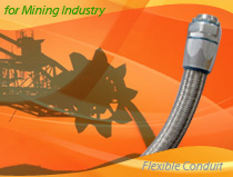 Heavy Series Over Braided Flexible Conduit and Connector For Mining and Metal Industry Wirings
