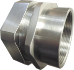 Delikon Liquid Tight Stainless Steel Connector with internal threads or external threads